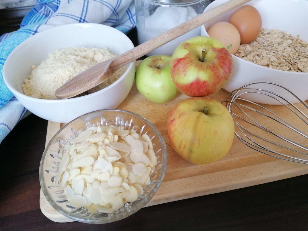 Zutaten für Apfel-Mandel-Muffins
